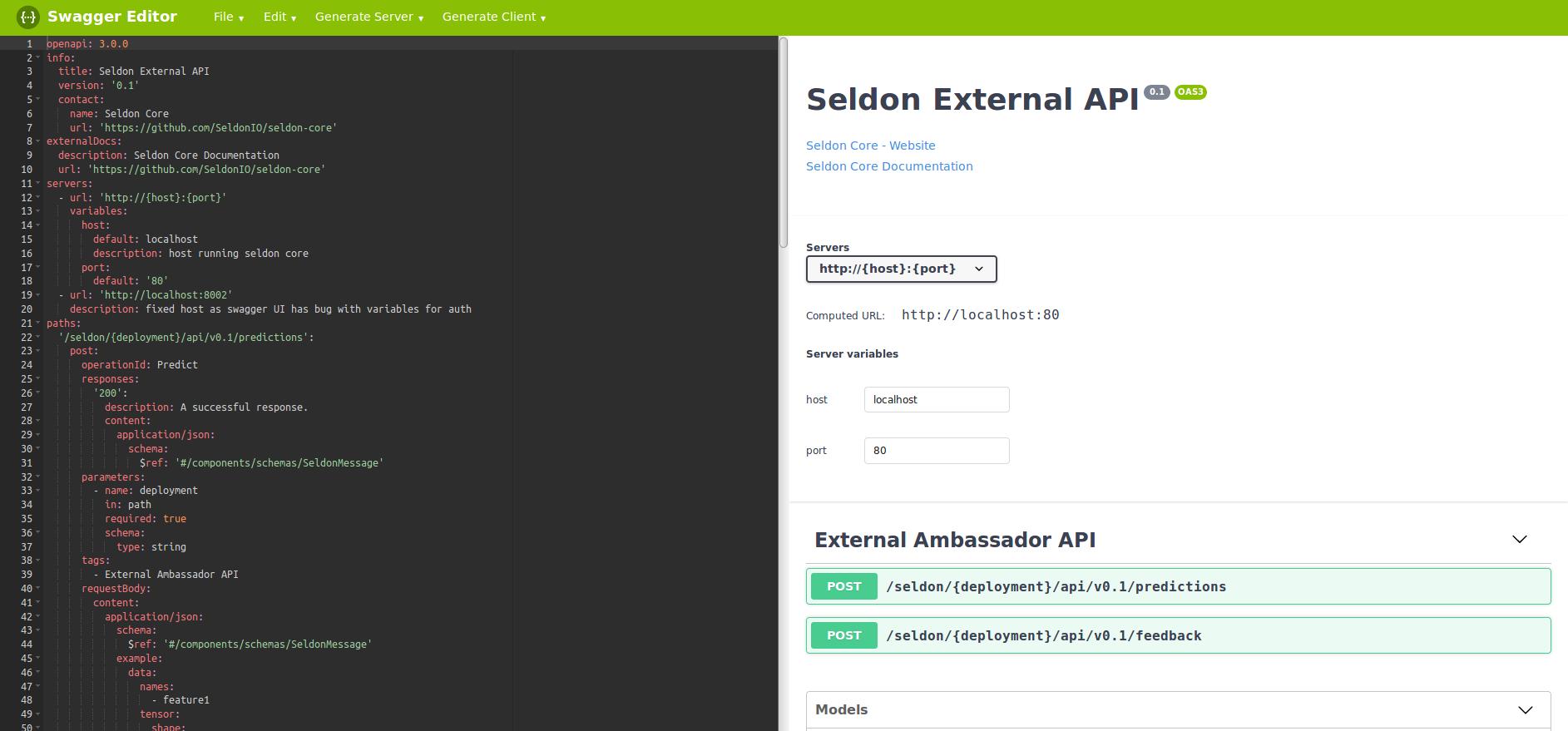 Open API — seldon-core documentation